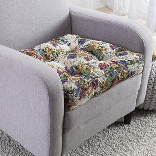 Zvýšený prošívaný sedací polštář FLOWERS