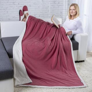 Beránková deka fialová TALMA a Domácí textilní pantofle vel. 37-38