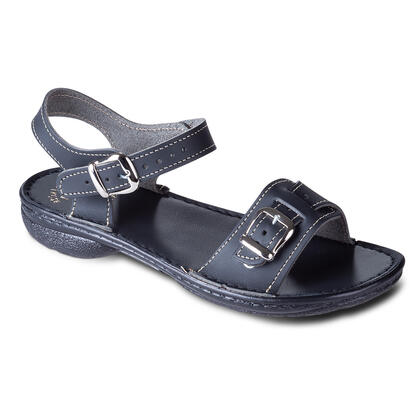 Dámské kožené sandály černé