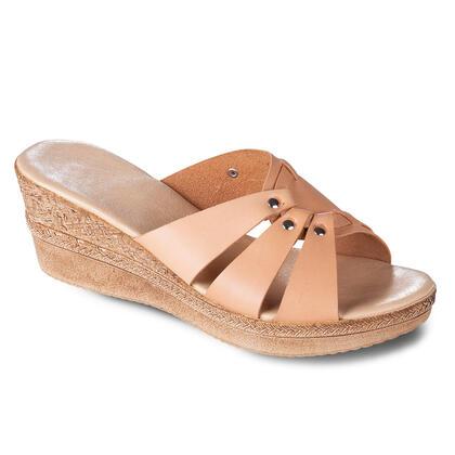 Dámské kožené vycházkové pantofle