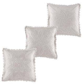 Sada povlaků na polštářky s krajkou 3ks 40 x 40 cm