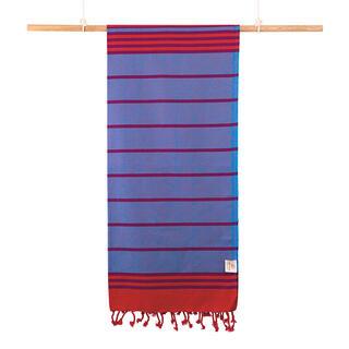Osuška PESHTEMAL DAFF modrá 80 x 170 cm