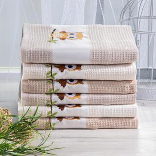 Vaflové bavlněné utěrky SOVA 6 ks 50 x 70 cm
