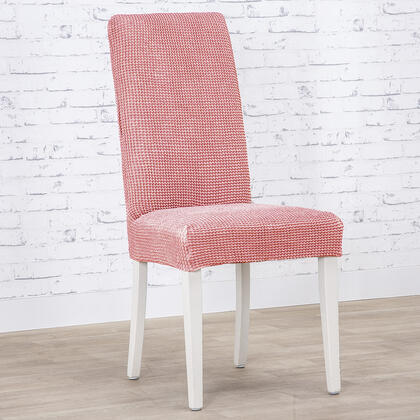 Super strečové potahy NIAGARA korálová židle s opěradlem 2 ks (40 x 40 x 55  cm)
