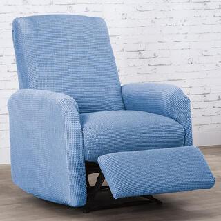 Super strečové potahy NIAGARA modrá, relaxační křeslo ( š.70 - 90 cm)