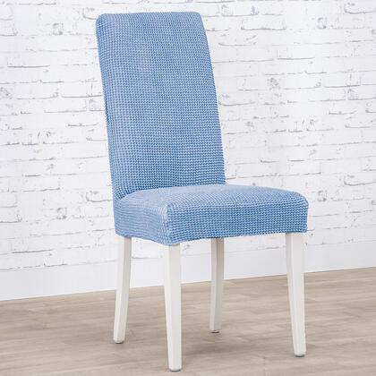 Super strečové potahy NIAGARA modrá, židle s opěradlem 2 ks (40 x 40 x 55  cm)