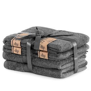 Sada bambusových ručníků a osušek BAMBY tmavě šedá  6 ks