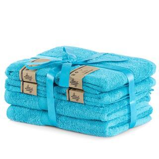 Sada bambusových ručníků a osušek BAMBY modrá  6 ks