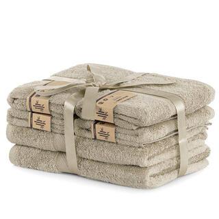 Sada bambusových ručníků a osušek BAMBY béžová 6 ks
