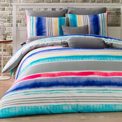 Bavlněné ložní povlečení TEMPERA modré, prodloužená délka