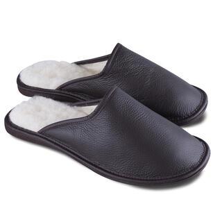 Pánské pantofle pro širokou nohu černohnědé