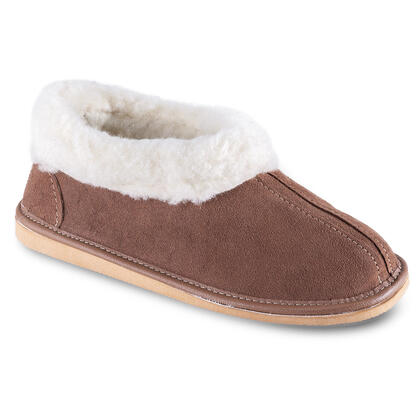 Domácí obuv s beránkem hnědá