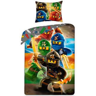 Bavlněné ložní povlečení LEGO NINJAGO černá