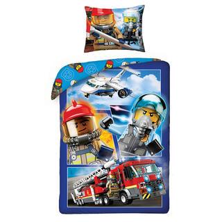 Bavlněné ložní povlečení Lego HASIČI