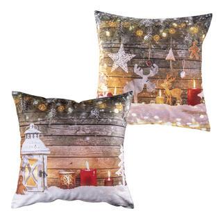 Sada 2 ks vánoční povlaky na polštář