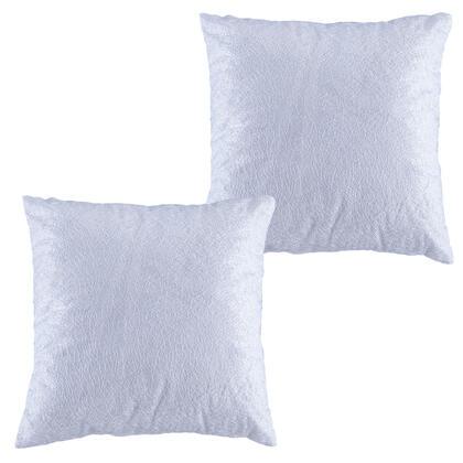 Sada 2 ks povlaků na polštářky s bílou nitkou 40 x 40 cm