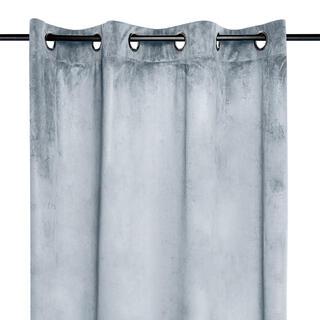 Dekorační velurový závěs DANAÉ světle šedý 140 x 260 cm