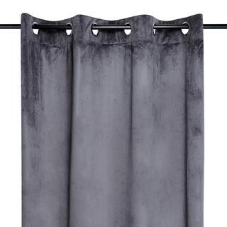 Dekorační velurový závěs DANAÉ tmavě šedý 140 x 260 cm