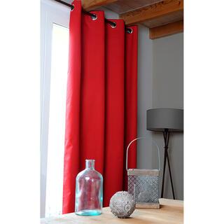 Zatemňovací závěs OSLO  červený 140 x 260 cm, 2 ks