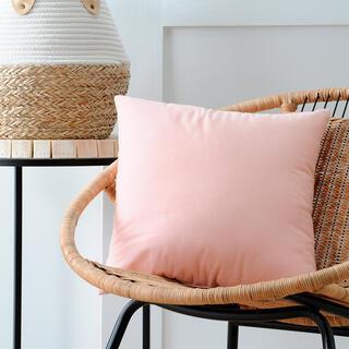 Dekorační polštářek DUO UNI pudrová 40 x 40 cm
