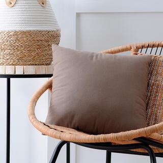 Dekorační polštářek DUO UNI taupe 40 x 40 cm