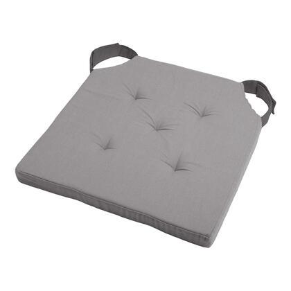Podsedák na židli DUO UNI se suchým zipem šedá, sada 4 kusů