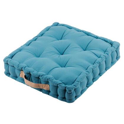 Sedací polštář na zem DUO UNI azurově modrá