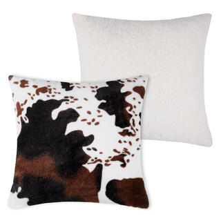 Dekorační polštářek s beránkem v dekoru  kravské kůže 40 x 40 cm