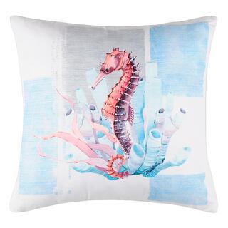 Dekorační polštářek OUESSANT mořský koník 40 x 40 cm