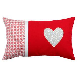 Dekorační polštářek DARLA srdce 30 x 50 cm