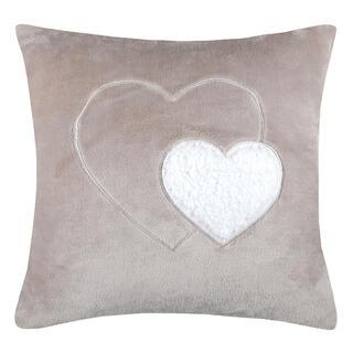 Dekorační polštářek COCOON srdce béžová 40 x 40 cm