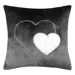 Dekorační polštářek COCOON srdce antracitová 40 x 40 cm