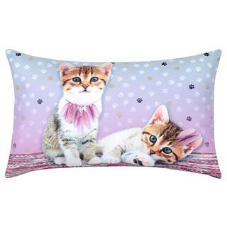 Dekorační polštářek GRIBOUILLE kočka tisk 30 x 50 cm