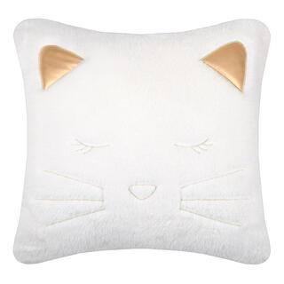 Dekorační polštářek GRIBOUILLE kočka bílá 40 x 40 cm