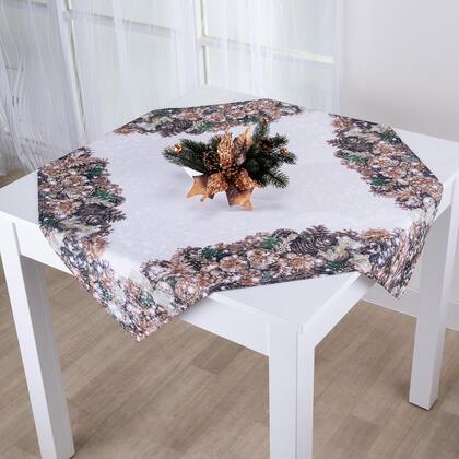Vánoční  středový ubrus ZLATÉ ŠIŠKY 85 x 85 cm