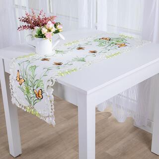 Běhoun na stůl s výšivkou MOTÝLI 40 x 110