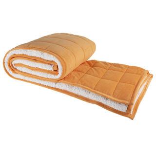 Prošívaná deka OVEČKA oranžová 150 x 200 cm