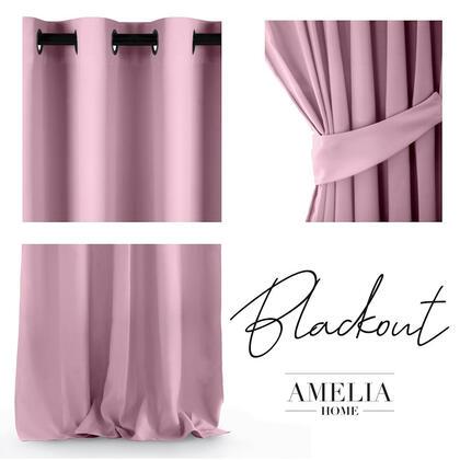 Závěs BLACKOUT AMELIA růžový   140 x 245 cm