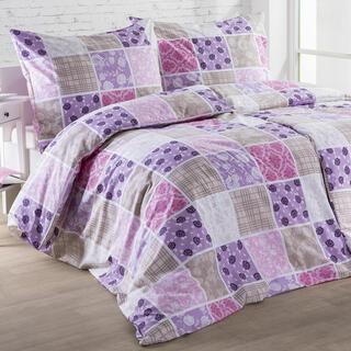 Bavlněné ložní povlečení KARINA fialové, prodloužená délka