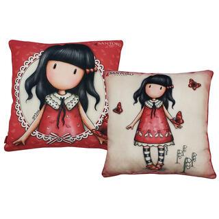 Dekorační polštářek s panenkou GORJUSS červený