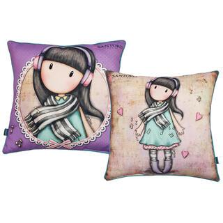 Povlak na polštářek s panenkou GORJUSS fialový