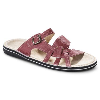 Dámské pantofle s koženou stélkou