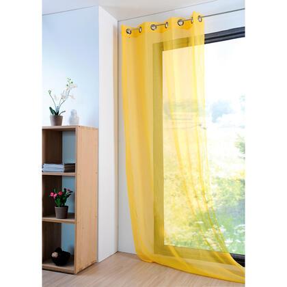 Dekorační závěs MONNA žlutá 135 x 260 cm, sada 2 ks