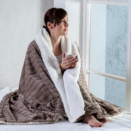 Beránková deka z mikroflanelu s 3D efektem COFFEE 140 x 200 cm