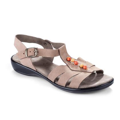 Dámské kožené sandále s korálky