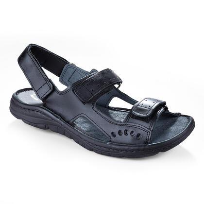 Pánské celokožené sandály černé