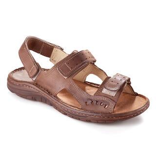 Pánské celokožené sandály hnědé