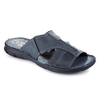 Pánské celokožené pantofle tmavě šedé