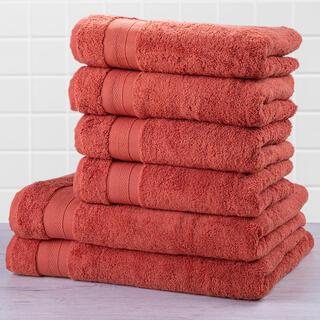 Sada froté ručníků a osušek MEXICO cihlová 6 ks