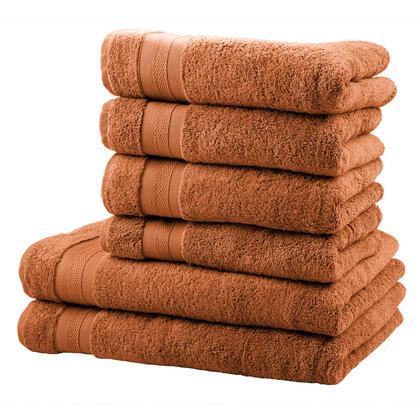 Sada froté ručníků a osušek MEXICO skořicová 6 ks